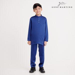 Gene Martino Dhani Baju Melayu Slim Fit XA1060FA 79 Royal Blue