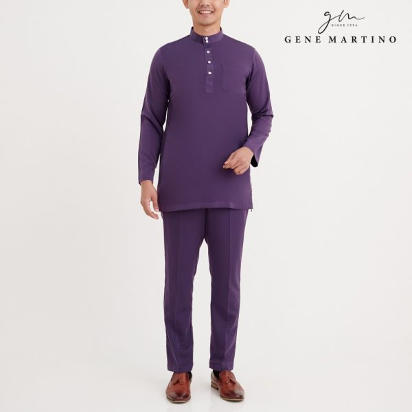 Gene Martino Firz Kurta Slim Fit KAA1063FA 68 Purple