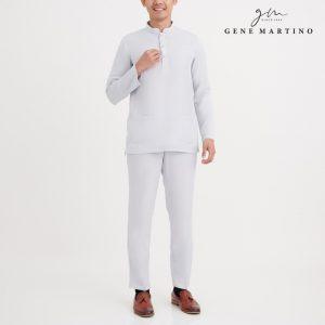 Gene Martino Malik Baju Melayu Slim Fit MA1081FA 94 Light Gray