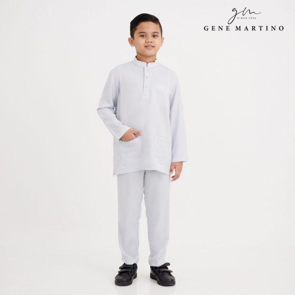 Gene Martino Malik Baju Melayu Slim Fit XA1081FA 94 Light Gray