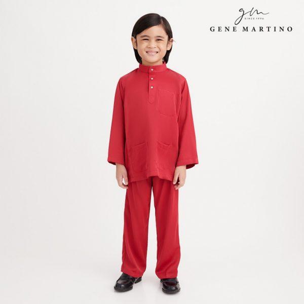 Gene Martino Nadir Baju Melayu Traditional UA950FA 58 Red