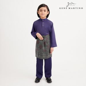 Gene Martino Nadir Baju Melayu Traditional UA950FA 78 Purple