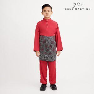 Gene Martino Nadir Baju Melayu Traditional XA950FA 58 Red