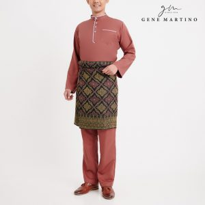 Gene Martino Khair Baju Melayu Traditional MA1009FA 45 Brown