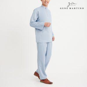 Gene Martino Khair Baju Melayu Traditional MA1009FA 75 Light Blue