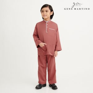 Gene Martino Khair Baju Melayu Traditional UA1009FA 45 Brown