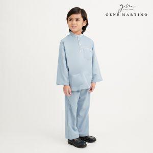 Gene Martino Khair Baju Melayu Traditional UA1009FA 75 Light Blue