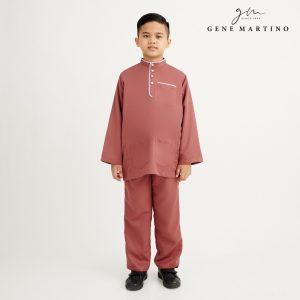 Gene Martino Khair Baju Melayu Traditional XA1009FA 45 Brown