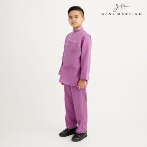 Gene Martino Khair Baju Melayu Traditional XA1009FA 65 Purple
