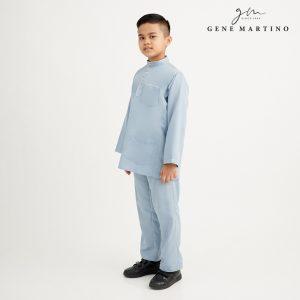 Gene Martino Khair Baju Melayu Traditional XA1009FA 75 Light Blue