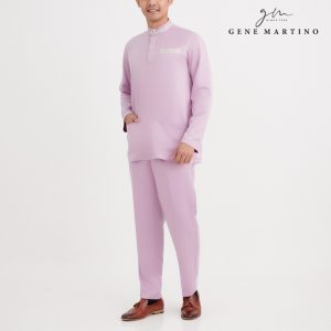 Gene Martino Omar Baju Melayu Modern Fit MA1086FA 63 Light Purple