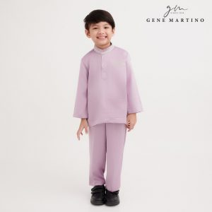 Gene Martino Omar Baju Melayu Modern Fit UA1086FA 63 Light Purple