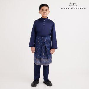 Gene Martino Rafi Baju Melayu Modern Fit XA1089FA 79 Navy Blue