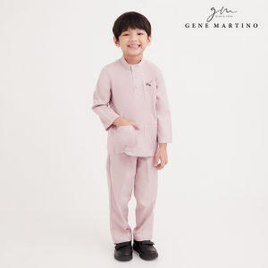 Gene Martino Sadiq Baju Melayu Slim Fit UA1090FA 52A Baby Pink