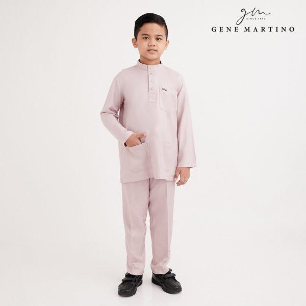 Gene Martino Sadiq Baju Melayu Slim Fit XA1090FA 52A Baby Pink