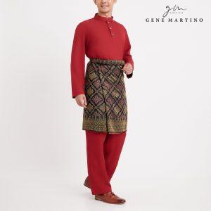 Gene Martino Syaqir Baju Melayu Modern MA1027FA 59 Maroon