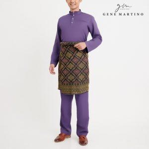 Gene Martino Syaqir Baju Melayu Modern MA1027FA 69 Dark Purple