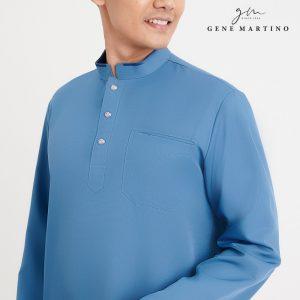 Gene Martino Syaqir Baju Melayu Modern MA1027FA 77 Teal Green