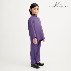 Gene Martino Syaqir Baju Melayu Modern UA1027FA 69 Dark Purple