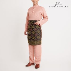 Gene Martino Aleef Baju Melayu Modern MA1020FA1 34 Light Peach