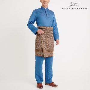 Gene Martino Aleef Baju Melayu Modern MA1020FA1 76 Steel Blue