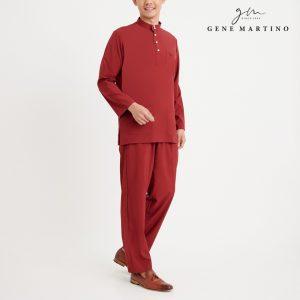 Gene Martino Athiq Baju Melayu Modern Fit MA1098FA 59 Maroon
