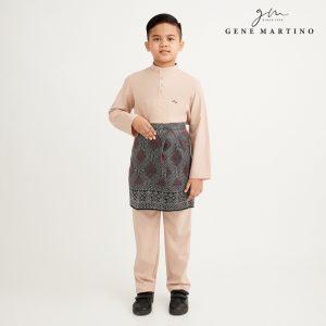 Gene Martino Athiq Baju Melayu Modern Fit Sedondon XA1098FA 15 Beige
