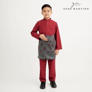 Gene Martino Athiq Baju Melayu Modern Fit Sedondon XA1098FA 59 Maroon