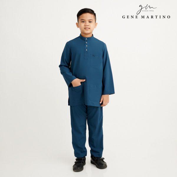 Gene Martino Athiq Baju Melayu Modern Fit Sedondon XA1098FA 89 Dark Teal