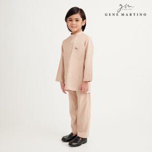 Gene Martino Athiq Baju Melayu Modern Fit UA1098FA 15 Beige