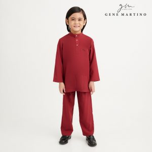 Gene Martino Athiq Baju Melayu Modern Fit UA1098FA 59 Maroon