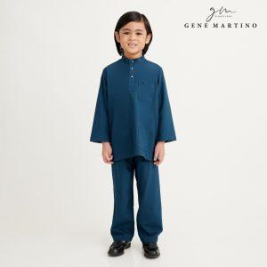 Gene Martino Athiq Baju Melayu Modern Fit UA1098FA 89 Dark Teal