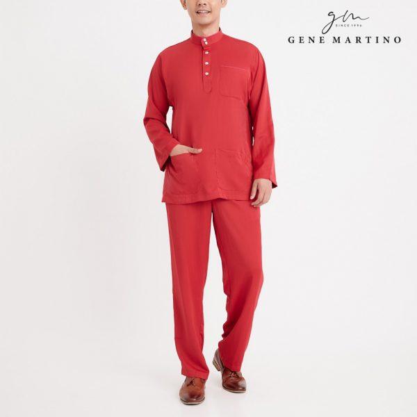Gene Martino Nadir Baju Melayu Traditional MA950FA 58 Red