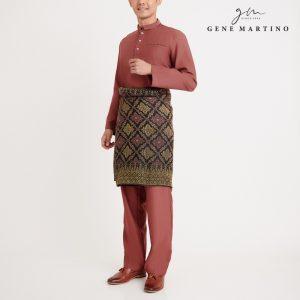 Gene Martino Nurhan Baju Melayu Without Pesak MA1037FA 33 Auburn Brown