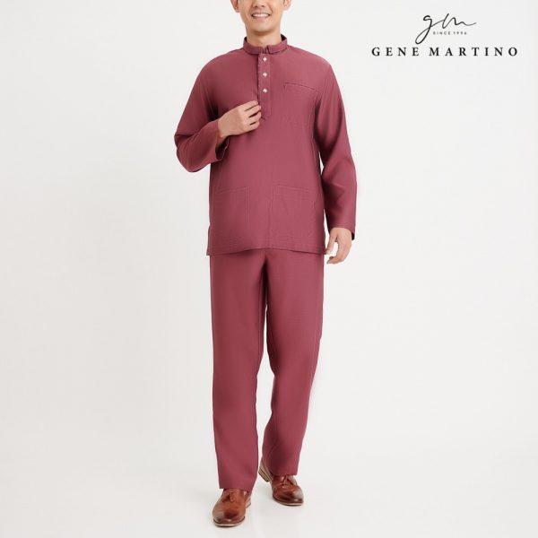 Gene Martino Nurhan Baju Melayu Without Pesak MA1037FA 53A Dusty Magenta