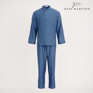 Gene Martino Nurhan Baju Melayu Without Pesak MA1037FA 73 Dusty Blue