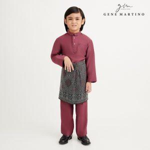 Gene Martino Nurhan Baju Melayu Without Pesak UA1037FA 53A Dusty Magenta