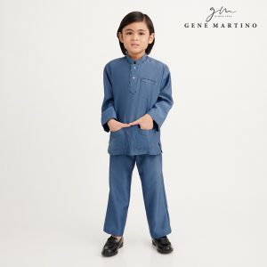 Gene Martino Nurhan Baju Melayu Without Pesak UA1037FA 73 Dusty Blue