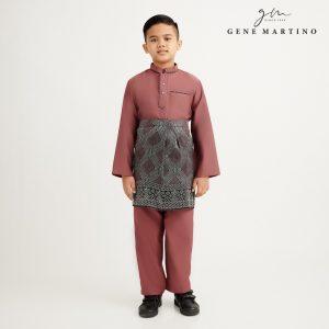 Gene Martino Nurhan Baju Melayu Without Pesak XA1037FA 33 Auburn Brown
