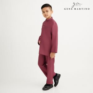 Gene Martino Nurhan Baju Melayu Without Pesak XA1037FA 53A Dusty Magenta