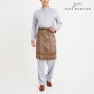 Gene Martino Remy Baju Melayu Modern MA991FA 93 Light Grey