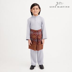 Gene Martino Remy Baju Melayu Modern UA991FA 93 Light Grey