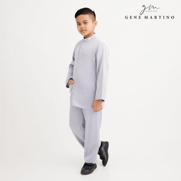 Gene Martino Remy Baju Melayu Modern XA991FA 93 Light Grey
