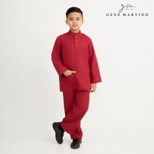 Gene Martino Syaqir Baju Melayu Modern XA1027FA 59 Maroon