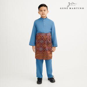 Gene Martino Syaqir Baju Melayu Modern XA1027FA 77 Teal Green