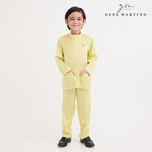 Gene Martino Wadi Baju Melayu Slim Fit UA1094FA 25 Light Yellow Citron