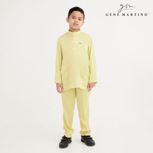 Gene Martino Wadi Baju Melayu Slim Fit XA1094FA 25 Light Yellow Citron