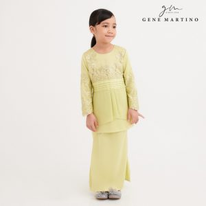 Gene Martino Wadiah Kurung Modern Pleated EA1094FA 25 Light Yellow Citron