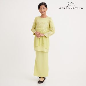 Gene Martino Wadiah Kurung Modern Pleated NA1094FA 25 Light Yellow Citron